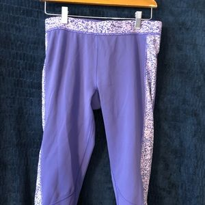 Adidas purple workout capris